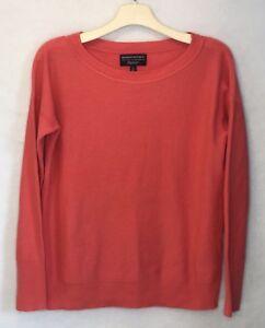 BANANA-REPUBLIC-Filpucci-Sweater-Womens-Small-Coral-Extra-Fine-Merino-Wool-Blend