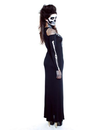 Women/'s Skeleton Halloween Costume Dress Day of Dead Glow In The Dark Zombie
