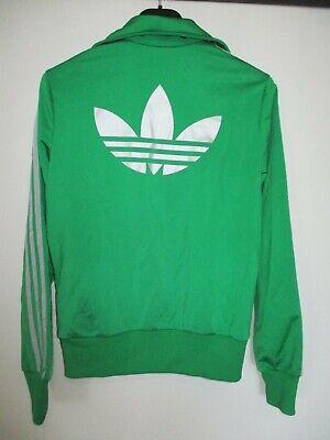 Veste ADIDAS TREFOIL vert argent silver femme sport giacca tracktop jacket 38 | eBay
