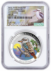 2019-P-Australia-1-oz-Silver-Berlin-Fair-Kookaburra-1-NGC-MS70-FR-Excl-SKU57484