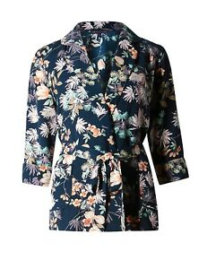 Marks-amp-Spencer-Collection-Oriental-Print-Soft-Jacket-with-3-4-Length-Sleeves-Or