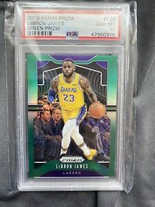2019-20-Panini-Prizm-LeBron-James-Green-PSA-10-Los-Angeles-Lakers