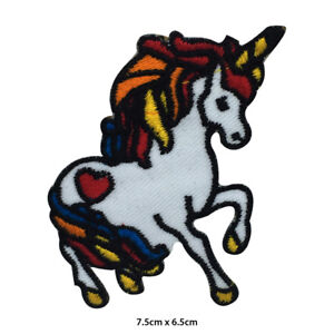 Unicorn-Rainbow-Disney-Embroidered-Patch-Iron-on-Sew-On-Badge-For-Clothes-etc