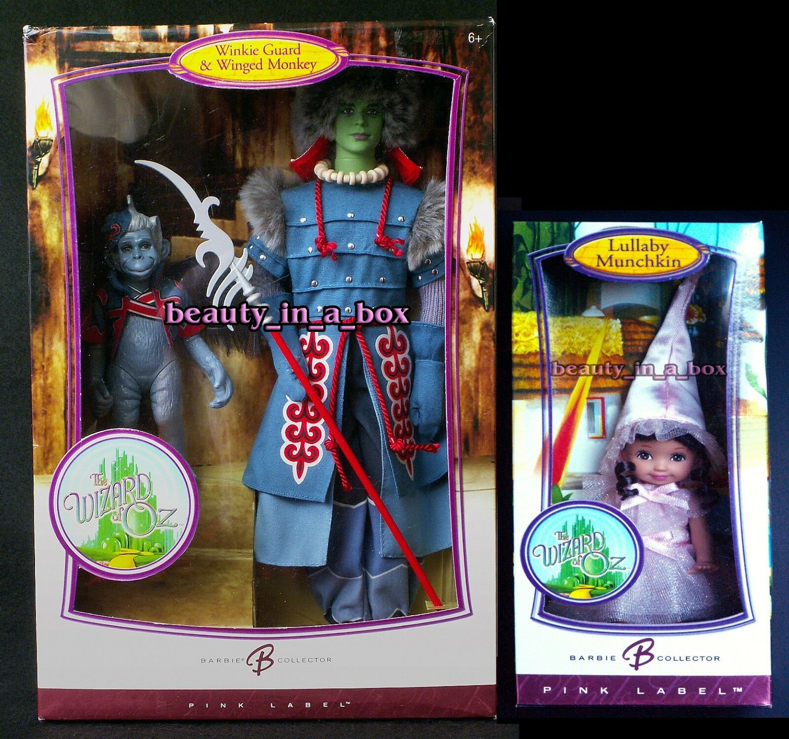 Mago De Oz Winged Monkey Muñeca de guardia Winkie LULLABY MUNCHKIN Kelly Barbie Lote 2