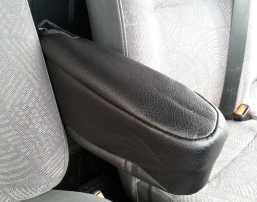 Schwarz Premium Kunstleder Sitz Armlehne Schutz für Opel Vivaro Movano Van