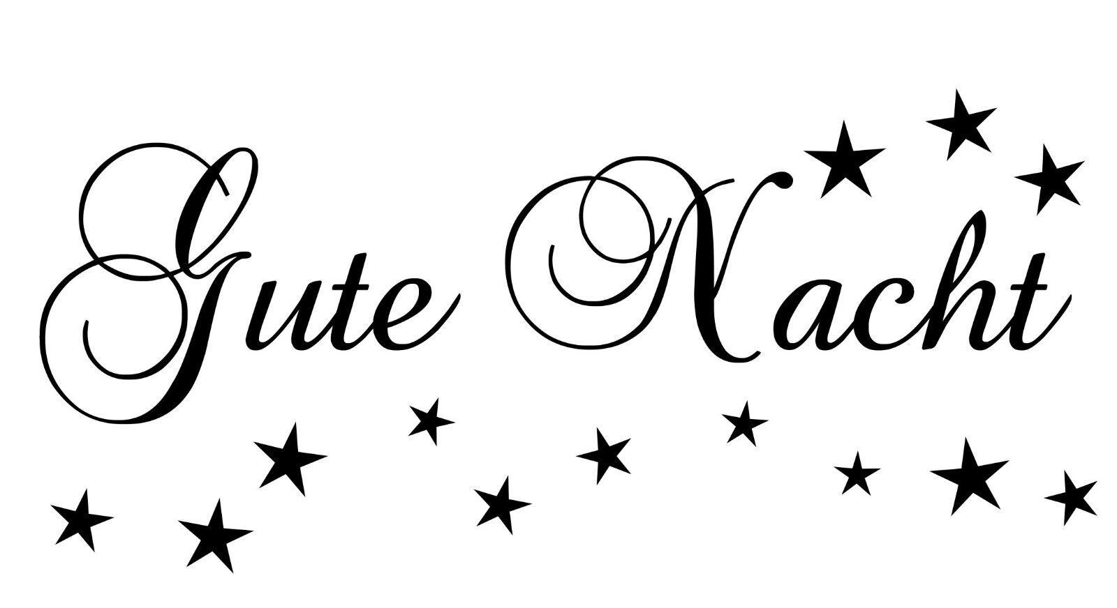 Wandtattoo Wandaufkleber Schlafzimmer Kinderzimmer Gute Nacht +Sterne