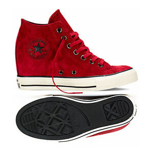 32b361d103ca Details about Converse Chuck Taylor All Star CT Lux Mid 550671C Suede  Dahlia Wedge Women Shoes
