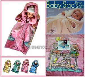 Détails Sur Baby Sac Couverture Polaire Bébé Gigoteuse Nid Dange Idee Cadeau Naissance Ros
