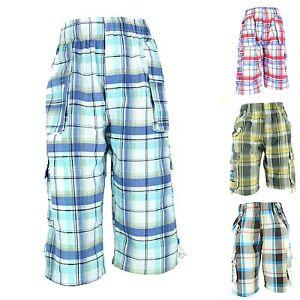 neueste im Angebot angenehmes Gefühl Details zu Jungen Kinder Shorts Bermudas 3/4 kurze Hose Karo Sommer Jungs  Gr.110-140