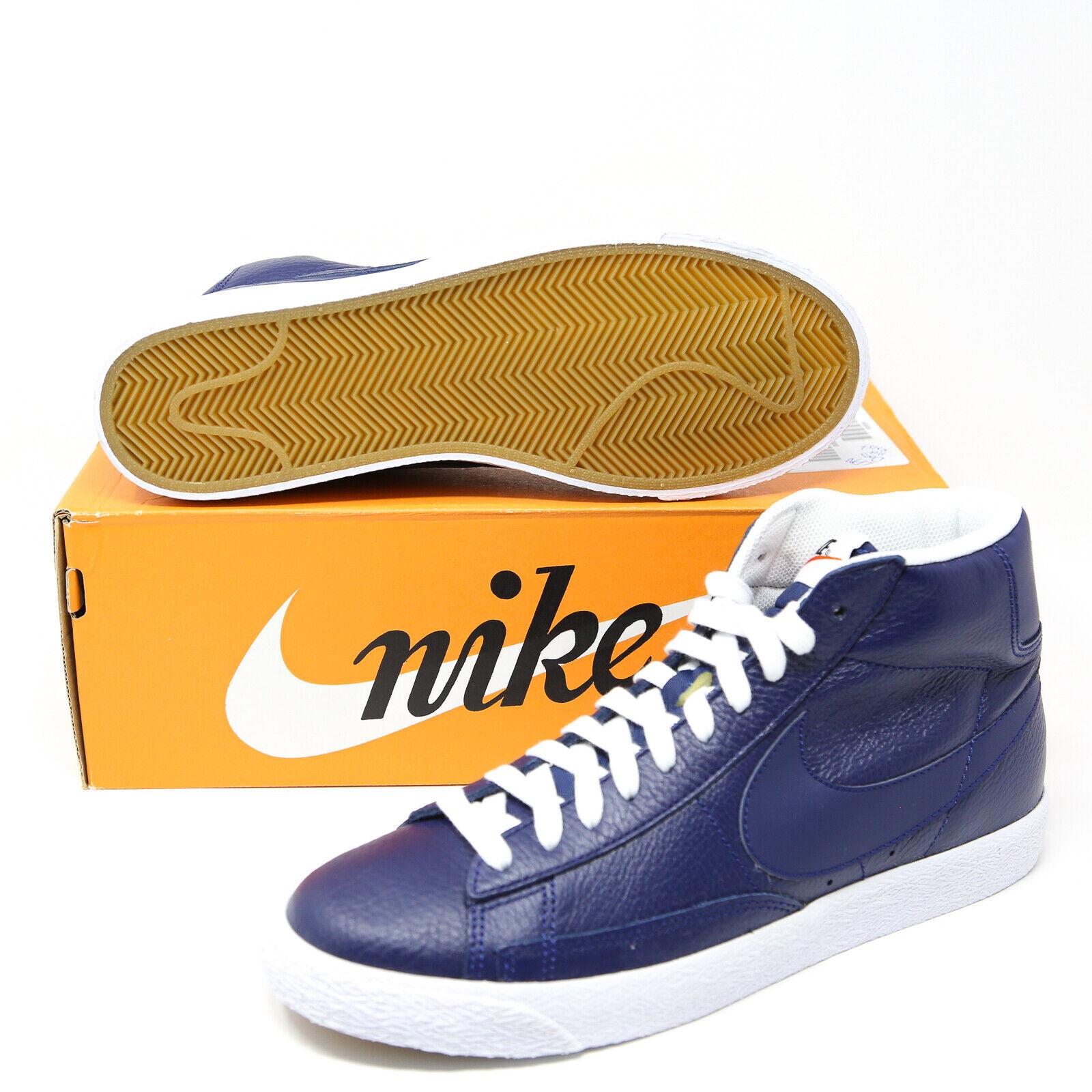 Nike Blazer Mid Premium PRM Binaire Bleu Blanc Marine Gomme 429988-402 SB Basketball