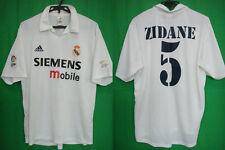 2001-2002 Real Madrid Centenary Jersey Shirt Camiseta Home Zidane #5 Adidas L
