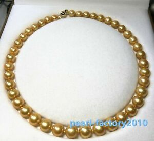 AAAAA-11-12-mm-Natural-round-south-sea-golden-pearl-necklace-18-034-14K-Gold