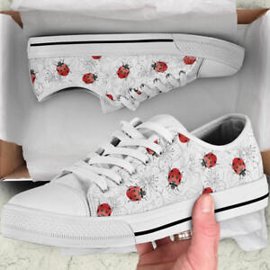 9936620f180d5 Details about Ladybug Ladybird Lover Women's Low Top Shoes - Custom Canvas  Shoes