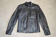 Acne Studios Aleks Black Leather Zip Bomber Biker Jacket Mens Size 46 / 36 / S