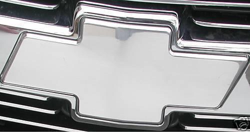 94-98 Chevy Silverado Suburban Tahoe FRONT BowTie Emblem BLACK POLISHED CHROME
