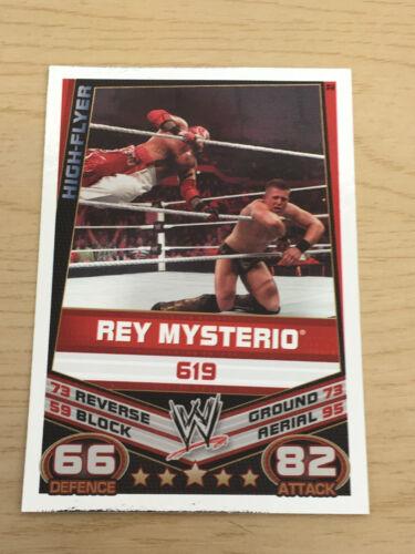 Topps slam attax rebellion wrestling trading card