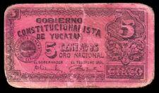 Gobierno Constitucionalista de Yucatan 5 Centavos, M4140 / SI-YUC-11 Fine.