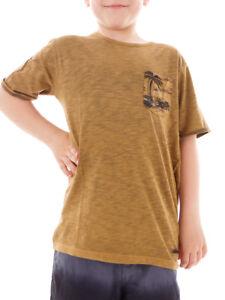 BRUNOTTI-T-shirt-ancondo-Haut-sport-t-shirt-d-039-ETE-MARRON-SACOCHE-poitrine