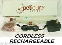 Peticure Petite Cordless Dog Cat Bird Pet Grooming Paw Nail Claw Trimmer Grinder