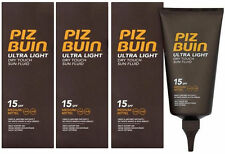 Piz Buin Ultra Light Dry Touch Sun Fluid (3 x 150ml) SPF 15 Sun Tan Lotion Cream