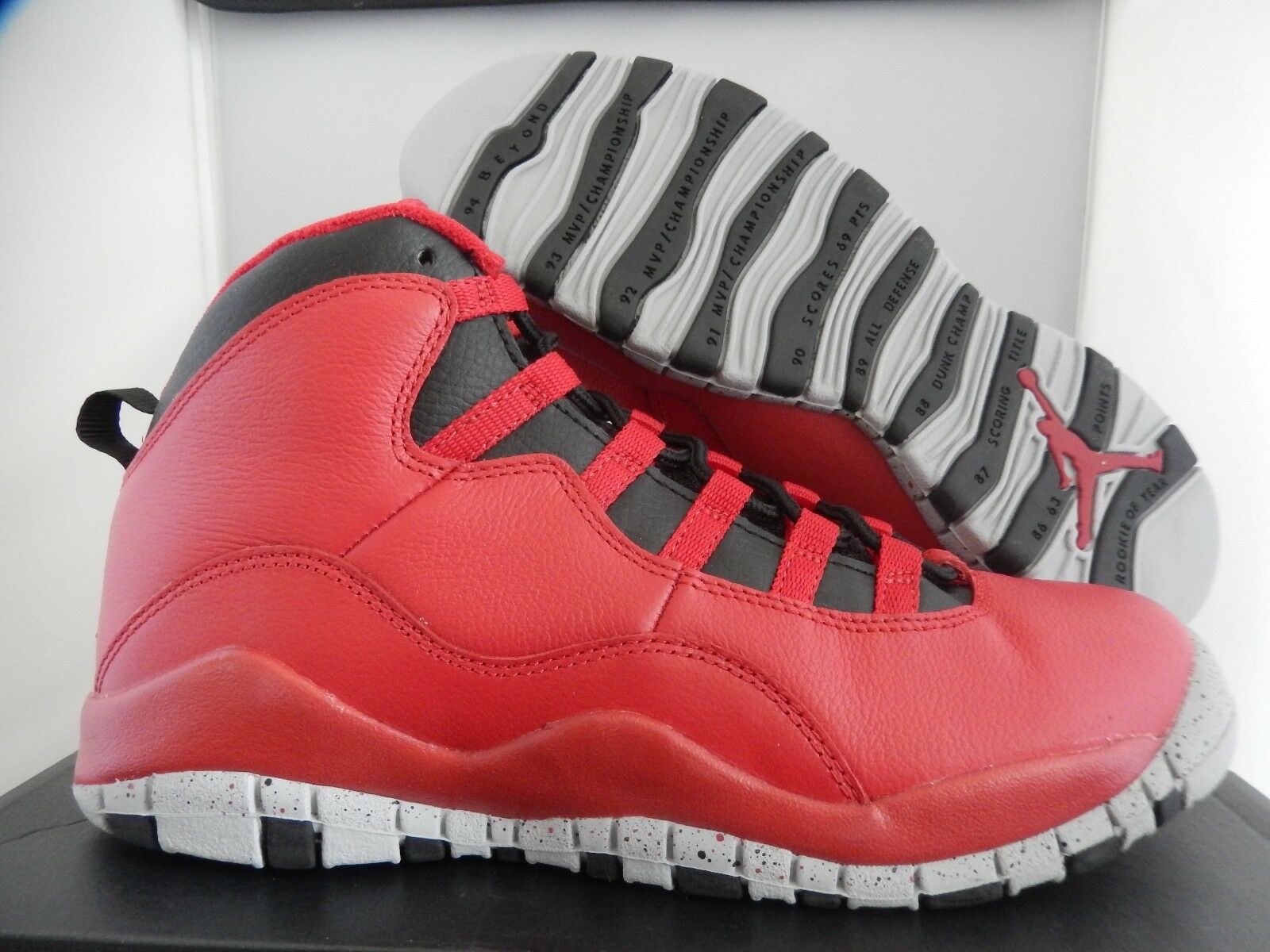 NIKE AIR JORDAN 10 RETRO 30TH SZ BG BULLS SZ 4.5Y-WOMENS SZ 30TH 6 [705179-601] 179d2a