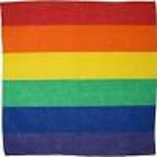 Gay Pride Rainbow Red Yellow Green Blue Rainbow Bandana HeadWrap Scarf Wristband