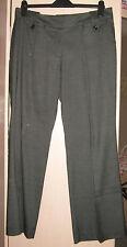 Next - Black/Grey Workwear Smart Trousers - Size 12 Petite Leg Length