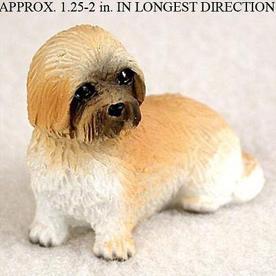 Lhasa Apso Mini Hand Painted Figurine Brown Puppy Cut Ebay