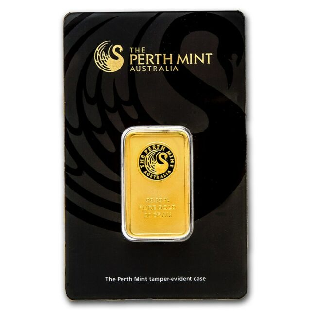 20 gram Perth Mint Gold Bar - In Assay Card - SKU #57161