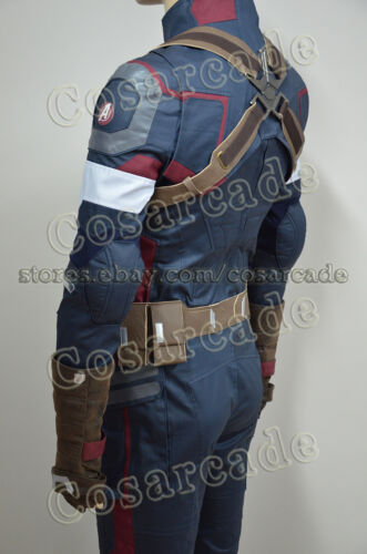 Avengers Captain America II 2 Age of Ultron Steve Rogers Cosplay Costume Uniform