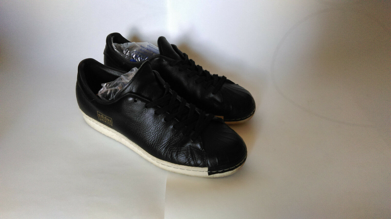 Adidas Superstar 80s Clean trainers - UK9 / EU43 1/3 - Black / Rare! The latest discount shoes for men and women
