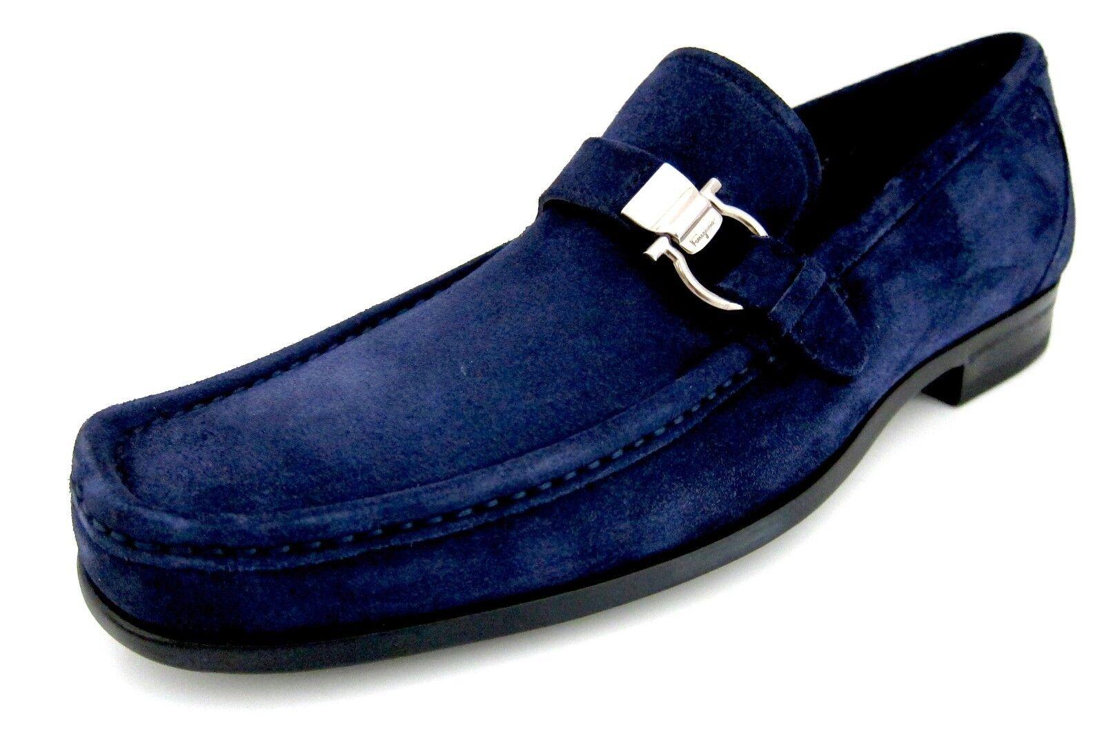 Salvatore Ferragamo Muller Homme Daim Mocassins Chaussures 9