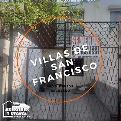 CASA EN VENTA EN VILLAS DE SAN FRANCISCO EN ESCOBEDO