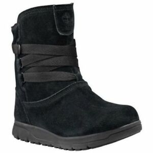 Timberland LEIGHLAND PULL WP WL Womens BLACK A18YO Winter Boots ALL ... 204c9fb770d