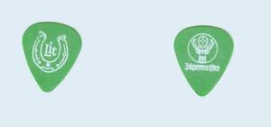 Lit-tour-used-White-on-Green-Jagermeister-Horseshoe-band-logo-Guitar-Pick-Pic