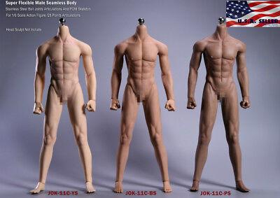 JIAOUDOL 1//6 Flexible Seamless Male Muscular Figure Body PALE SUNTAN DARK U.S.A.