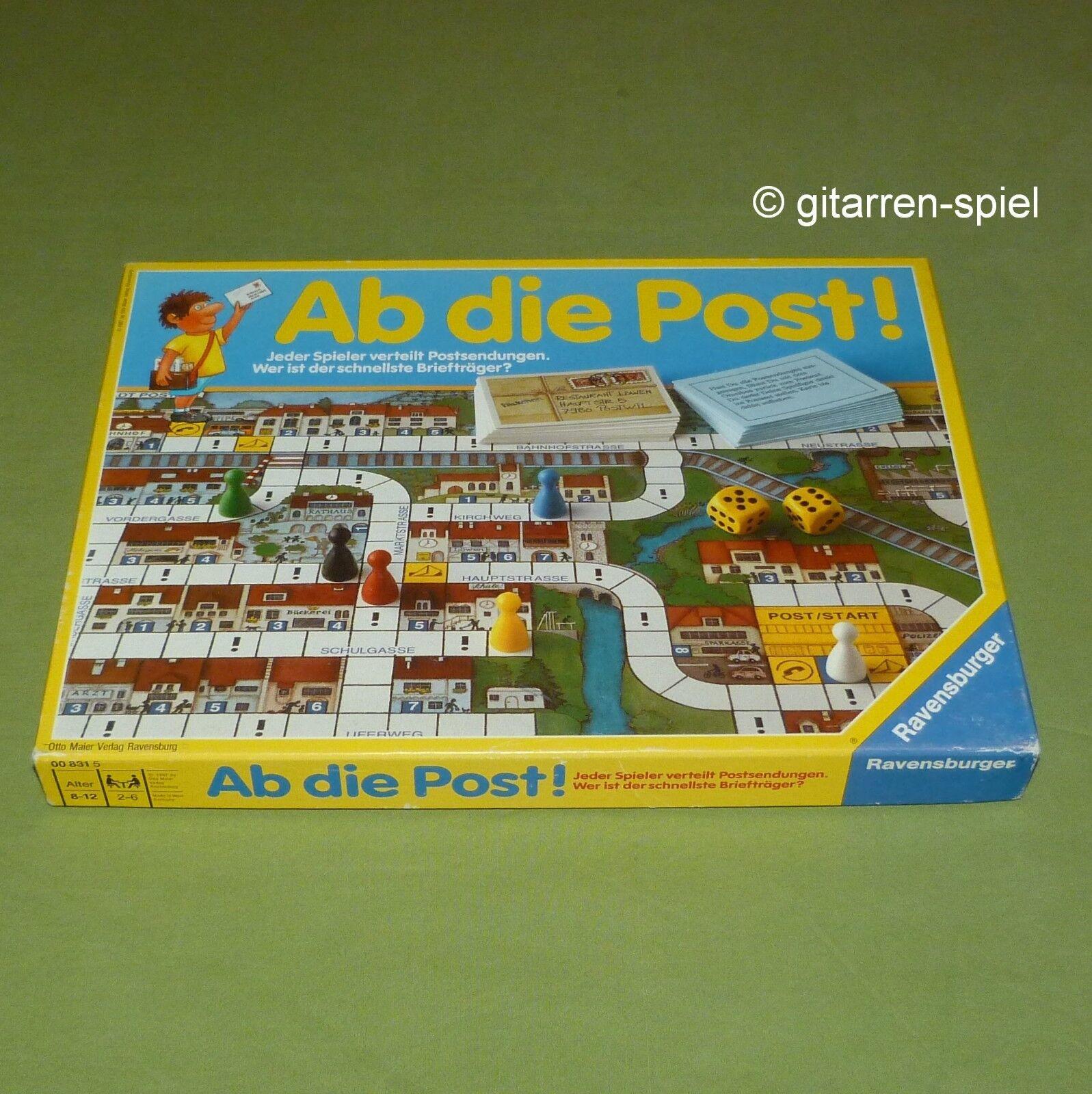 Ab die Post  Kultspiel von Ravensburger ©1987 Absolute Rarität komplett Top
