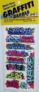 Blair-Line-2257-Mega-Set-8-Graffiti-Decals-Spur-H0-1-87-Laser-cut-Decal