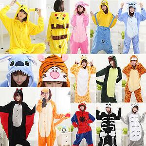 Karneval-Unisex-Pyjama-Tier-Erwachsene-Anime-Kostuem-Schlafanzug-Onesie-Kigurumi
