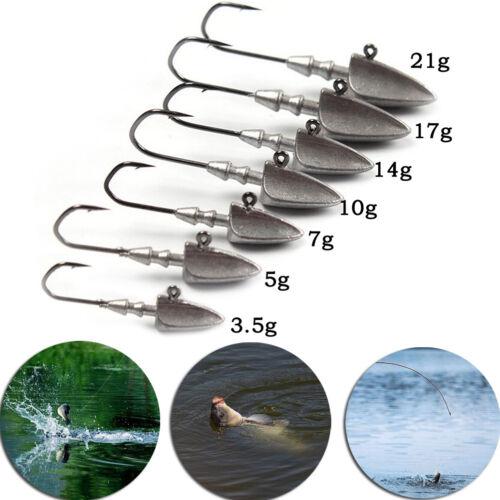 Lead jig Fishing Hooks Triangle Jig Lead Head Hooks Fishing Tackle Accessory MW