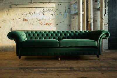 Design Chesterfield Stoff Couch Sofa 4 Sitzer Polster ...
