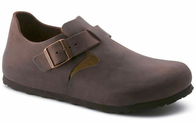 Birkenstock London Habana Fettleder schmal Schuh 166533 Herren