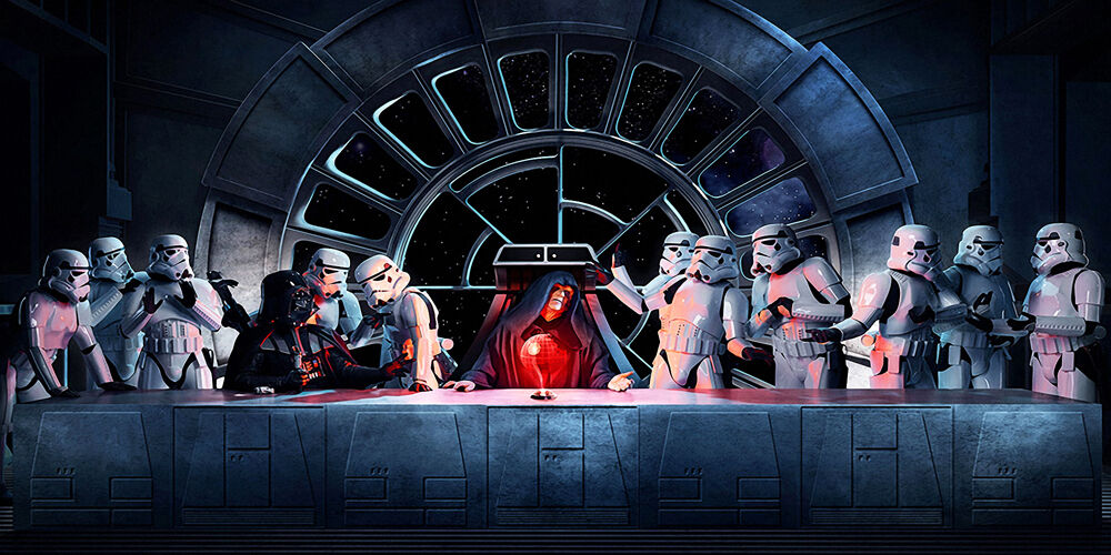 Emperor Palpatine Last Supper Star Wars - CANVAS OR PRINT WALL ART