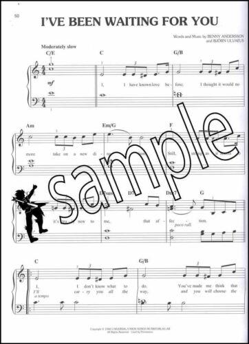 Mamma Mia Here We Go Again Easy Piano Sheet Music Book Waterloo Dancing Queen