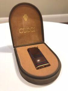 new concept 8d0cd 1d848 Details about Gucci Signature Vintage Lighter (with Original Case)