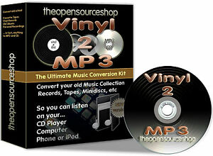 Convert-Vinyl-Records-LPs-amp-Tapes-2-CD-amp-MP3-10m-Lead-Length-Kit-FREE-CD-Gift
