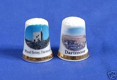 Dartmoor Letterboxing 2006-07 Bone China Thimbles B//28
