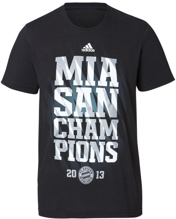 T-Shirt Adidas FC Bayern München MIA SAN CHAMPIONS CHAMPIONS CHAMPIONS 2013  FCB  | Verrückter Preis, Birmingham  448bdc