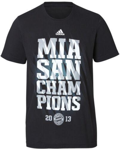 * T-SHIRT ADIDAS FC Bayern München mia San Champions 2013 [dimensioni S.M.L. XL] FCB *