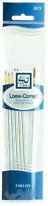 Loew-Cornell-Taklon-Paint-Brush-Set-7-Piece-Rounds-amp-Liner-2073